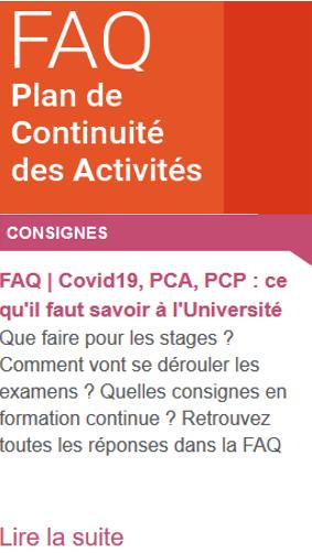FAQ PCA