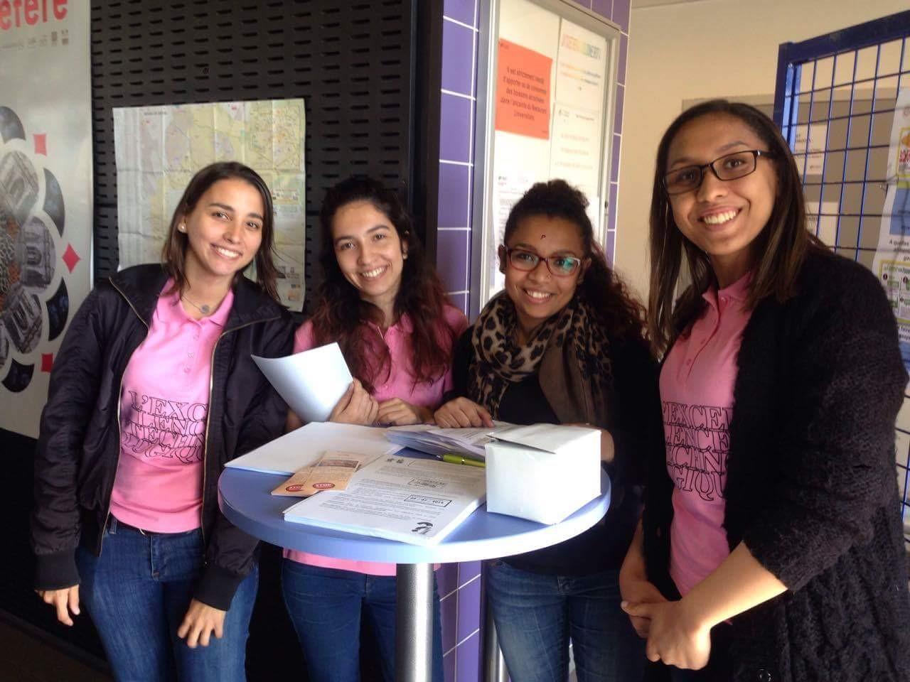 Les étudiantes à l'origine du projet de sensibilisation